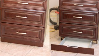 That Recessed Space At The Bottom Of A Kitchen Cabinet Is Dead Space, There  Only For Ergonomic Reasons. With A Cheap Drawer Kit From Ikea And A Little  ...