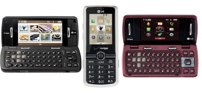 three new semi smart lg phones coming to verizon. Black Bedroom Furniture Sets. Home Design Ideas