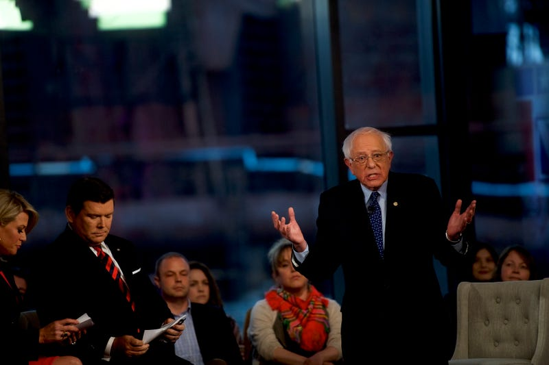 Democratic presidential candidate, Sen. Bernie Sanders (I-VT), participates in a Fox News Town Hall at SteelStacks on April 15, 2019 in Bethlehem, Pennsylvania.