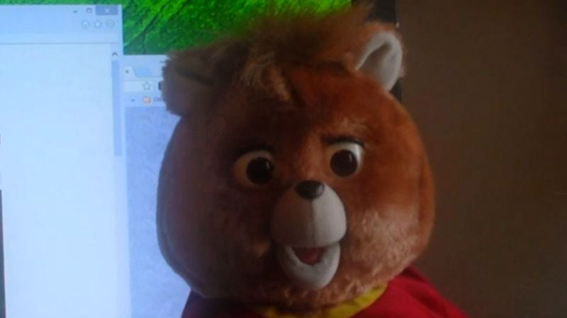 Somebody hacked a Teddy Ruxpin and somehow made it scarier