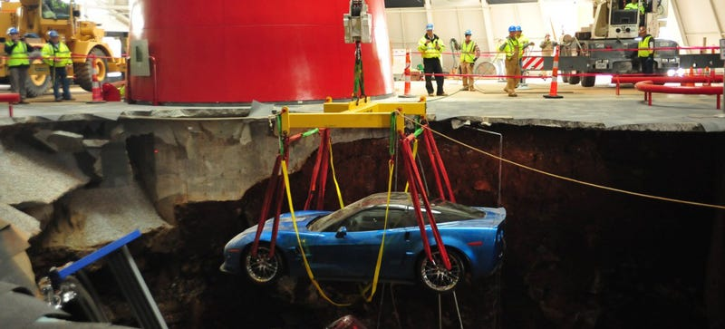 Illustration for article titled How The Corvette Museum Rescued Its Cars From A Giant Sinkhole