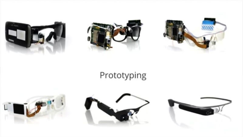 Illustration for article titled Here Are What the Google Glass Prototypes Looked Like