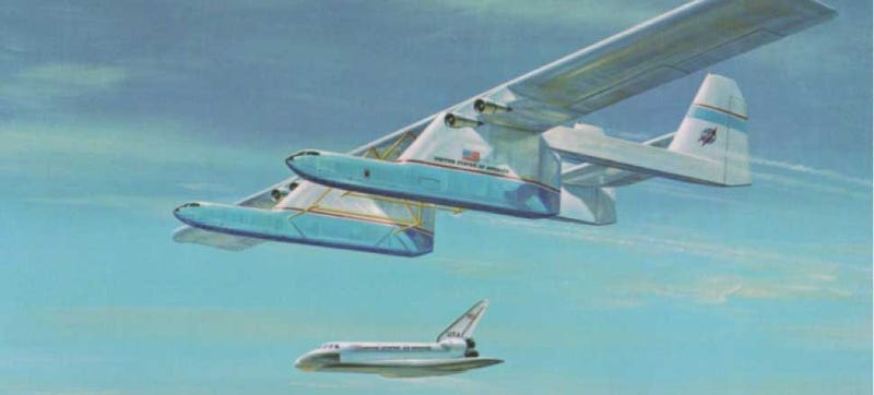 Illustration for article titled This Enormous Freak Of A Plane Was Designed To Carry A Space Shuttle