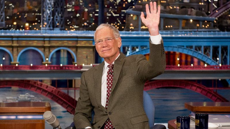 Illustration for article titled David Letterman will be a guest on Late Late Show, but Regis Philbin is hosting