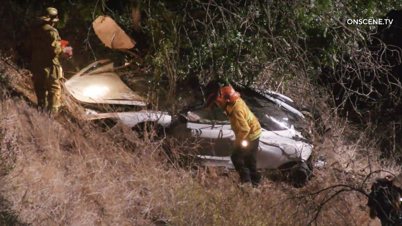 McLaren Driver Rescued By Helicopter After Car Flies Off Mulholland Drive