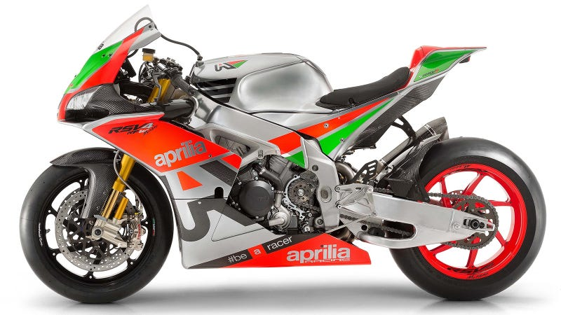 Illustration for article titled The Aprilia RSV4 R-FW Misano Is A MotoGP Bike You Can Buy