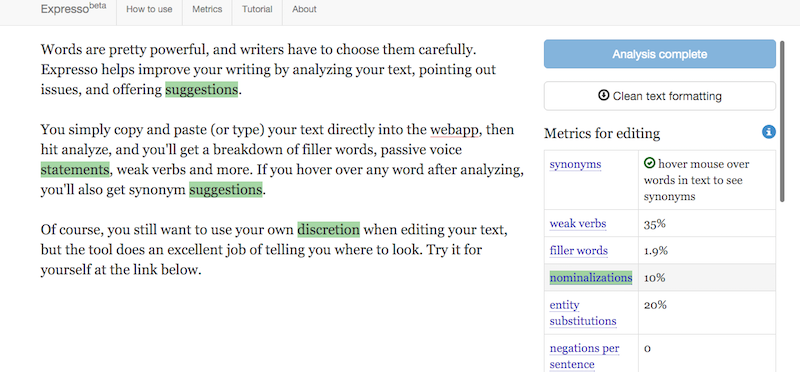 Expresso Analyzes Your Writing to Weed Out Unnecessary Words