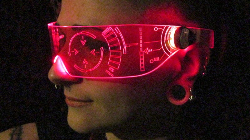 Illustration for article titled You'll Feel Like Iron Man Wearing These Glowing Laser-Etched Shades