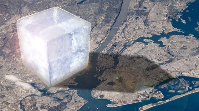 This Giant Ice Cube Represents How Much Ice We re Losing Every Year