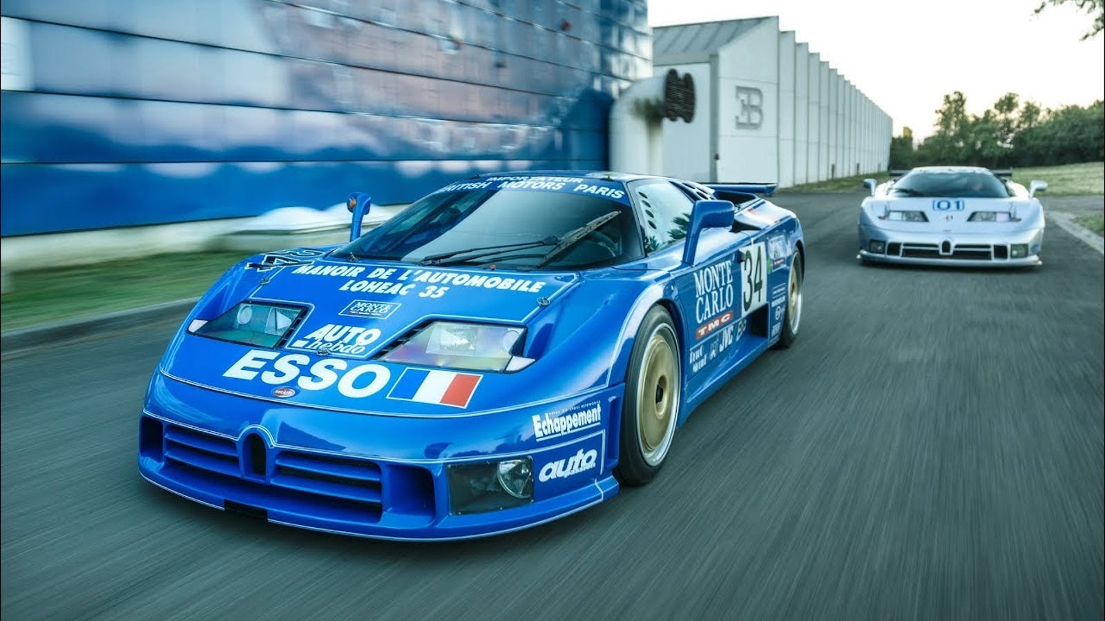 Here's How Bugatti Built Its Two Most Famous EB110 Race Cars