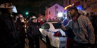 Protesters in Flatbush, Brooklyn, N.Y. (Allison Joyce/Getty Images)