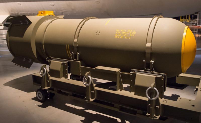 Maqueta de una bomba Mark-39. Foto: Mark Mauno/Flickr