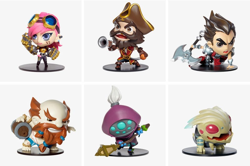 Illustration for article titled League Of Legends Official Vinyl Figures Are Stupid Cute