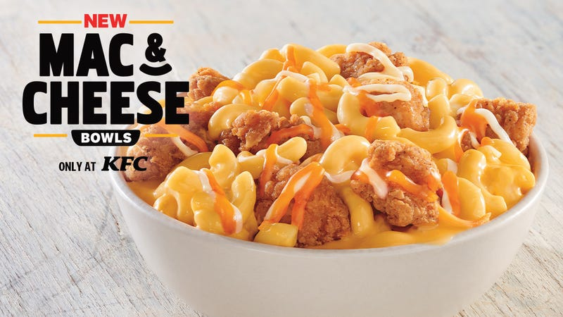 Illustration for article titled Unfortunately, KFC's new Mac & Cheese Bowls are missing one crucial element
