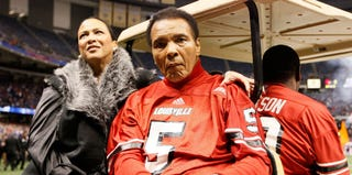 Muhammad and Lonnie Ali at the Allstate Sugar Bowl on Saturday (Kevin C. Cox/Getty Images)