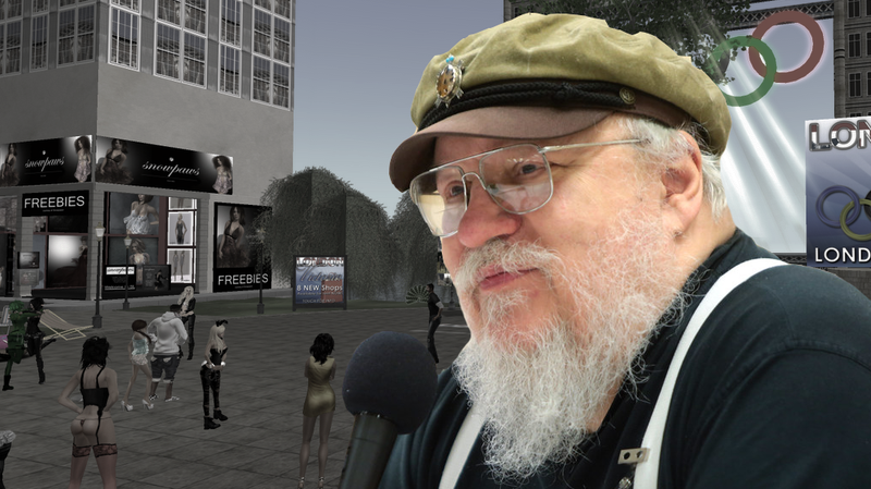 Illustration for article titled In 2007 George R.R. Martin Visited Second Life And Talked About The Future Of Game Of Thrones