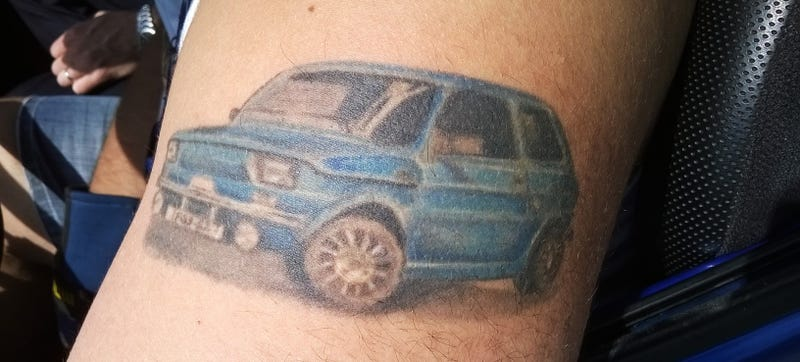 Illustration for article titled The King Of Car Tattoos: A Two-Cylinder Fiat Built In Poland