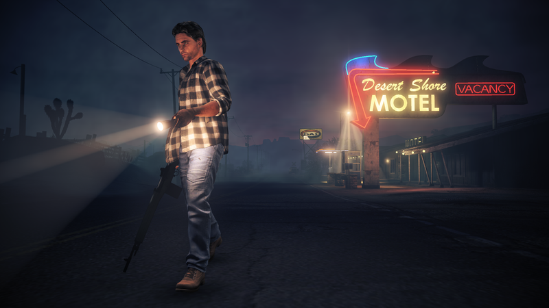 Illustration for article titled Alan Wake's American Nightmare Takes a Trip to the Desert in These New Screens