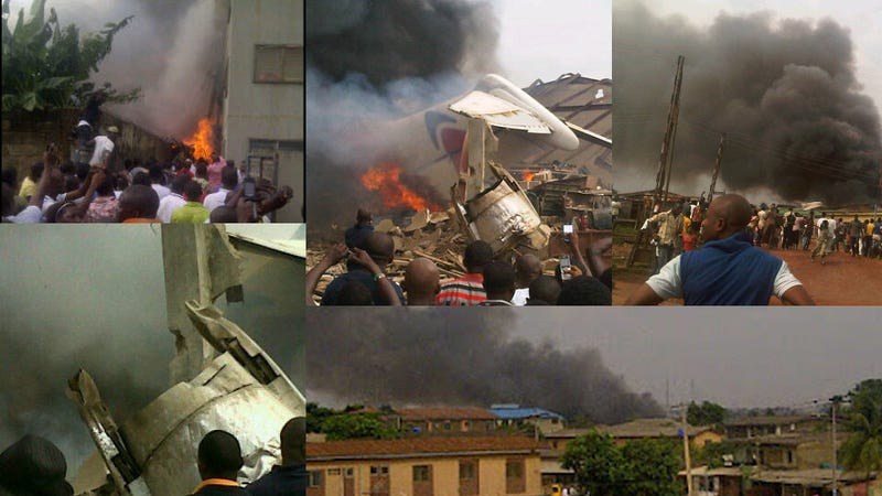 Illustration for article titled 159-Passenger Airliner Crashes Into Apartment Building (WARNING: Strong Images)