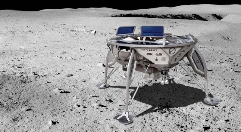 Artist's depiction of Beresheet lunar lander.