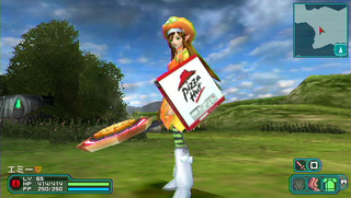 Illustration for article titled You've Got Pizza Hut In My Phantasy Star Portable 2