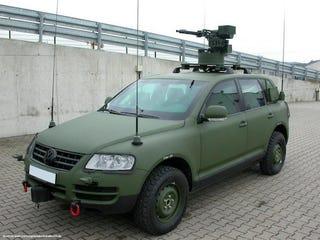 Illustration for article titled VW Touareg Gets Military Makeover