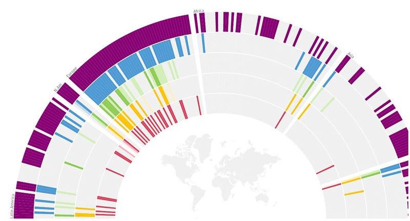 Illustration for article titled Esta completa infografía resume los derechos de los gays en el mundo