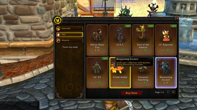 Illustration for article titled Oh Good, Now We Can Buy Virtual Pets Inside Of World of Warcraft.
