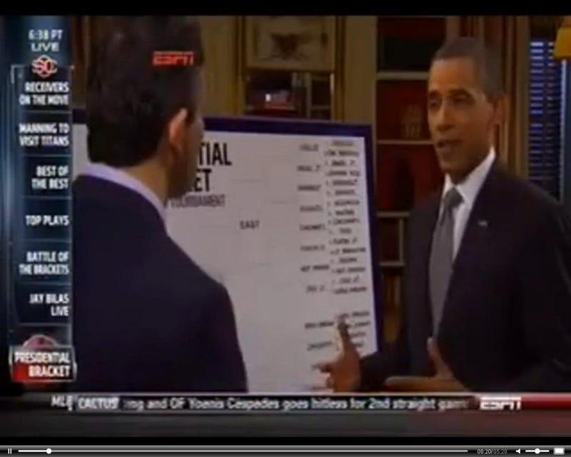 Andy Katz and Barack Obama (ESPN)