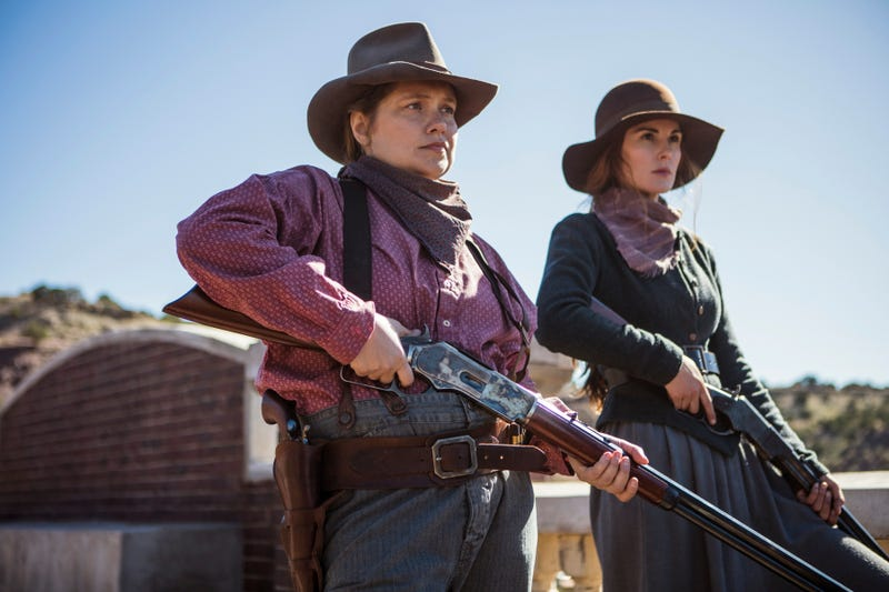 Merritt Wever (left), Michelle Dockery (Photo: James Minchin/Netflix)