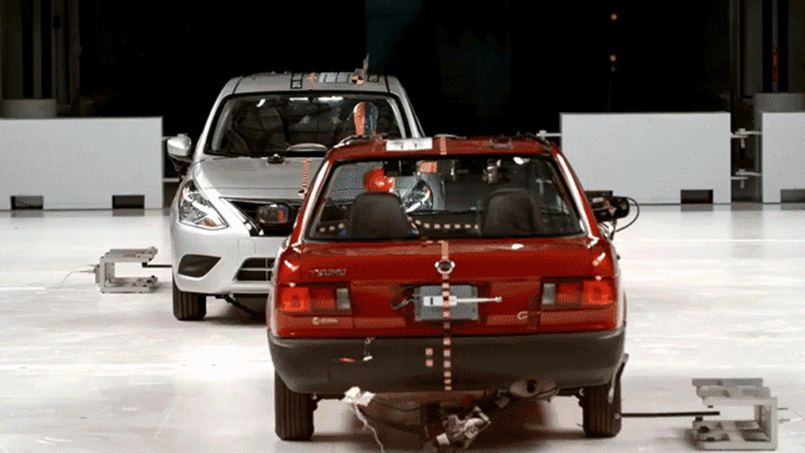 Horrifying Crash Test Against A Modern Car Shows Why