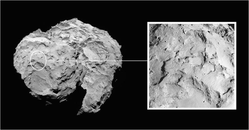 Illustration for article titled Anunciado el lugar del cometa 67P donde aterrizará la nave Rosetta