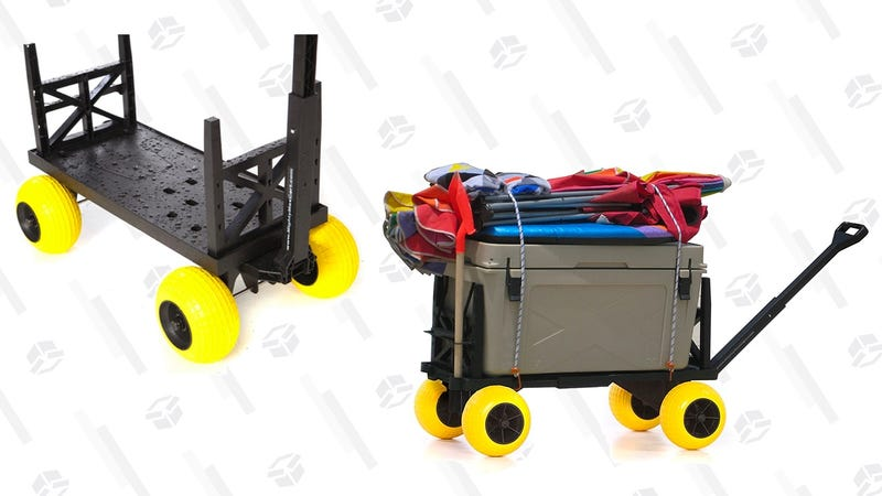 Mighty Max Plus One Beach/Sports Cart with 4 All-Terrain Rolling Wheels | $110 | Woot