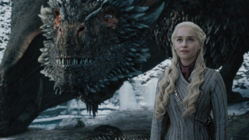 Daenerys (Emilia Clarke) in an increasingly rare happy moment.