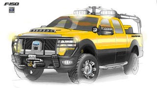 Illustration for article titled Ford Hauling Four F-150 Specials To SEMA