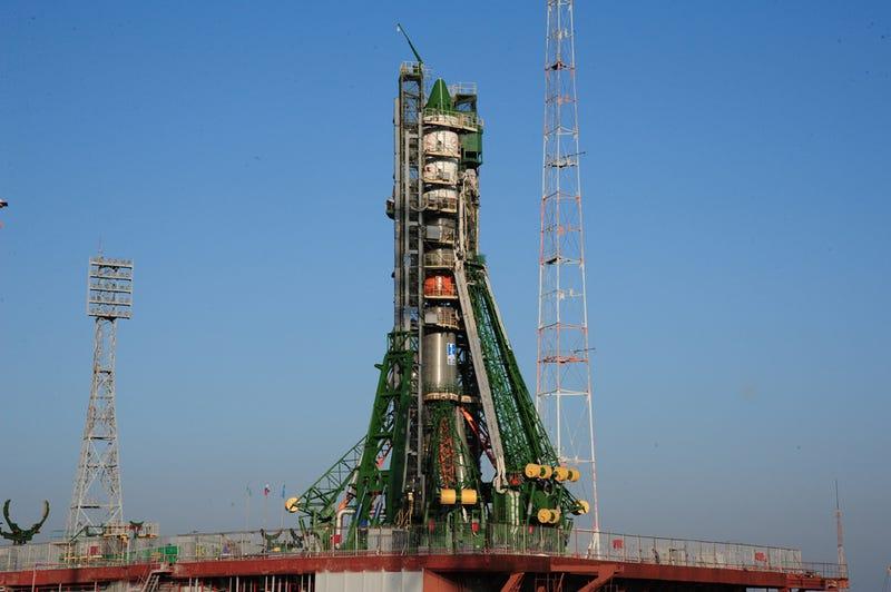 La nave antes de ser enviada al espacio en el cosmódromo de Baikonur, en Kazajistán. Foto vía: RSC Energia.