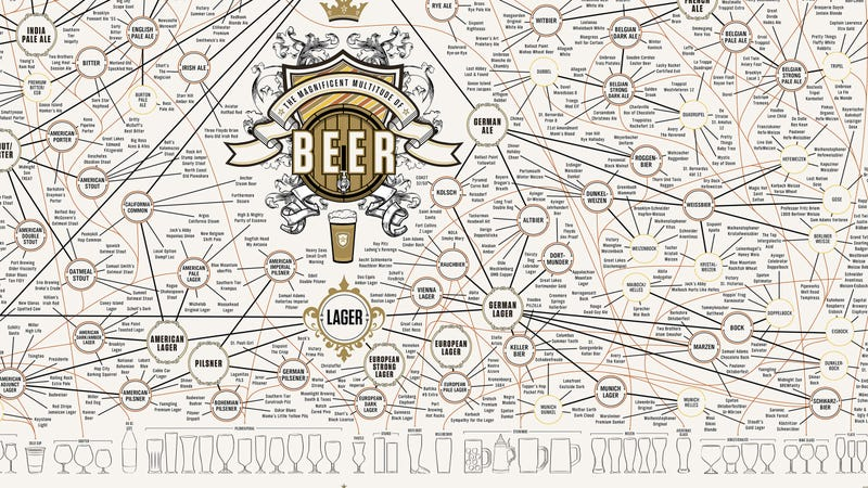 A Massive Map of Beer For Obsessive Brew Snobs