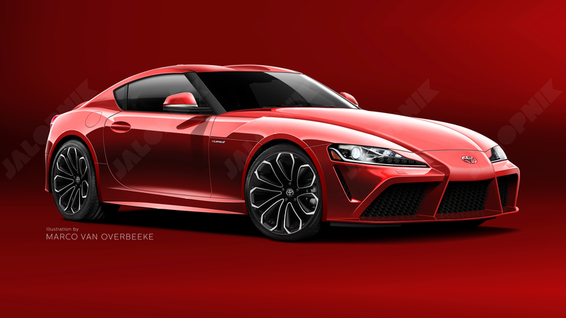 "A rendering of what the new ""Supra"" could look like. We have only seen spy shots of the car to date. Illustration credit: Marco van Overbeeke with aid from Trinity Animation and Sam Woolley/GMG"