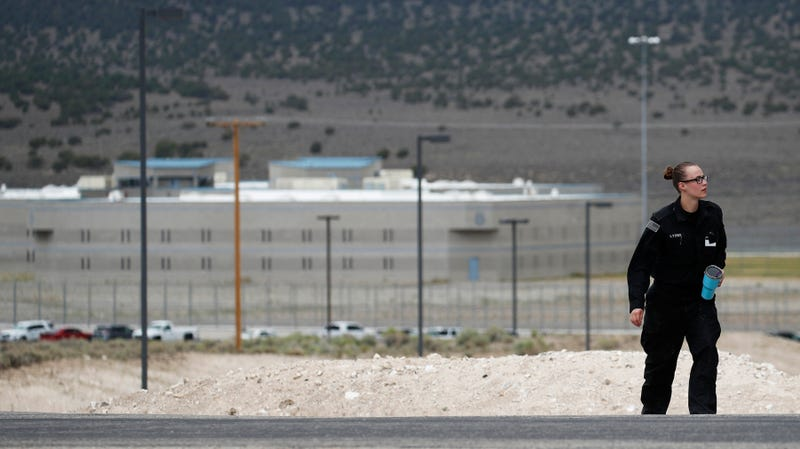 A corrections officer outside Ely State Prison in Nevada.