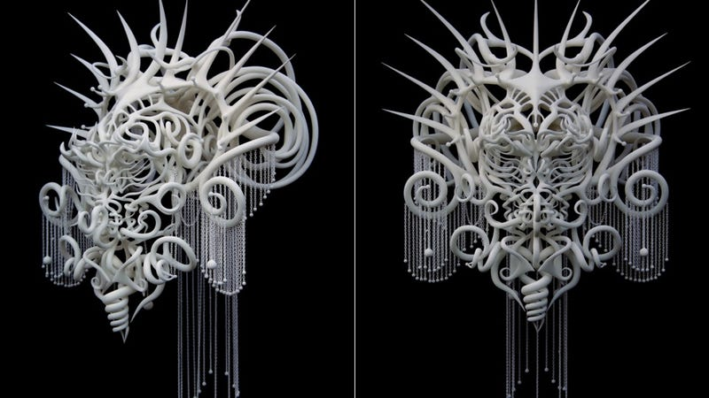 Illustration for article titled Whoa, This 3D-Printed Headdress Should Be The Next Predator
