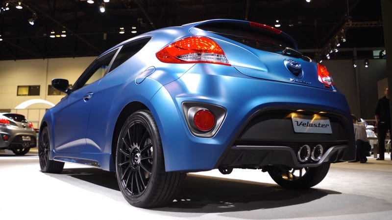 Illustration for article titled 2016 Hyundai VelosterRally Edition Actually Looks Surprisingly Cool