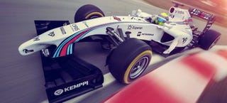 Illustration for article titled The Williams F1 Car In Martini Colors Is The Best F1 Car