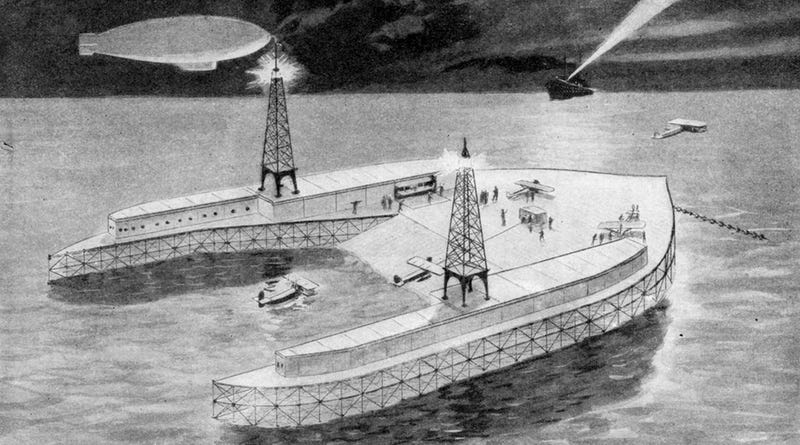 Illustration for article titled The Artificial Islands That Would Have Let Us Leapfrog the Atlantic