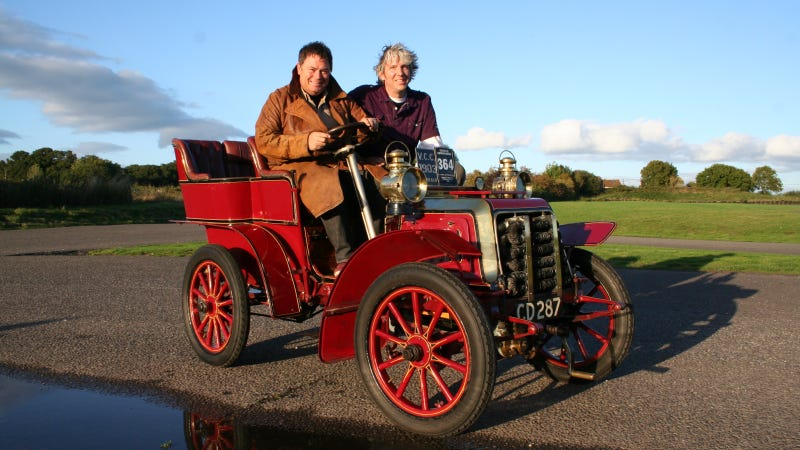 discovery channel 39 s wheeler dealers celebrates 100th car restoration with veteran car run. Black Bedroom Furniture Sets. Home Design Ideas