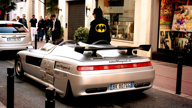 Illustration for article titled Batman hits French Riviera in his ItalDesign Aztec