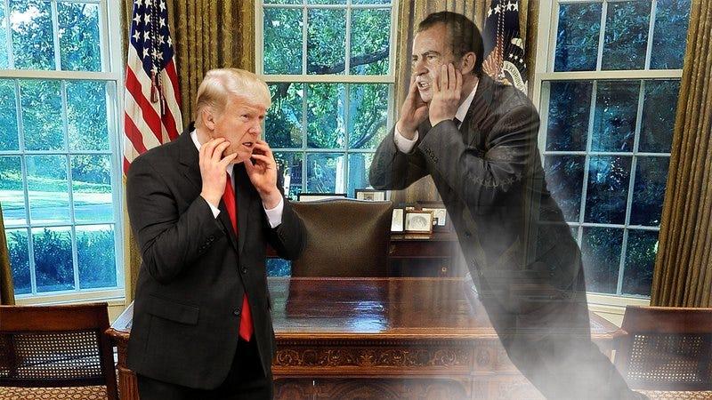 Donald Trump and Richard Nixon's ghost.
