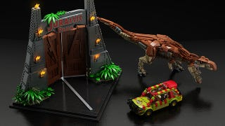 Illustration for article titled New Jurassic Park Lego video because dinosaurs are awesome