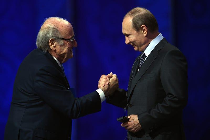 Illustration for article titled Vladimir Putin Says His Homeboy Sepp Blatter Deserves A Nobel Prize