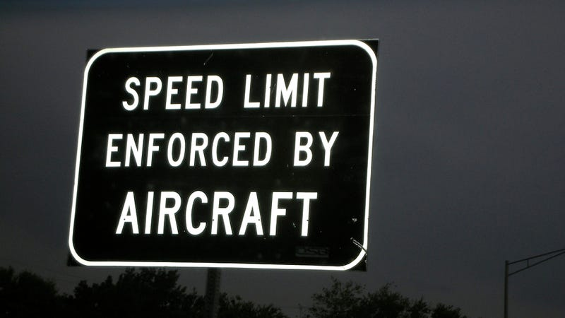 Illustration for article titled Here's Where You Can Ignore 'Speed Limit Enforced By Aircraft' Signs