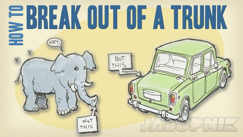 Illustration for article titled How To Break Out Of A Car's Trunk
